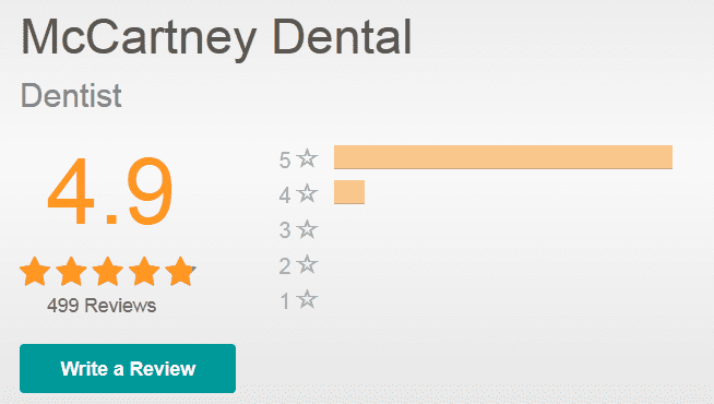 mccartney dental rate biz